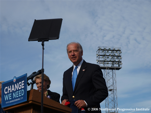 Joe Biden On Stage