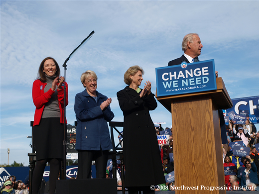 Patty Murray, Maria Cantwell, Chris Gregoire, and Joe Biden
