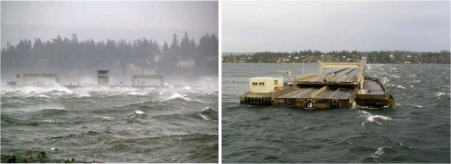 SR 520 Bridge During February 2006 Storm