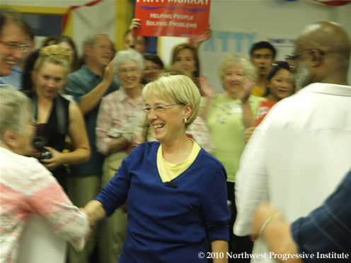 Patty Murray thanks supporters