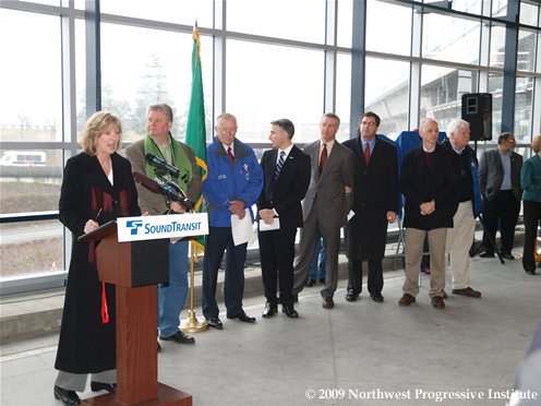 Elected leaders speak at the grand opening of Airport Link