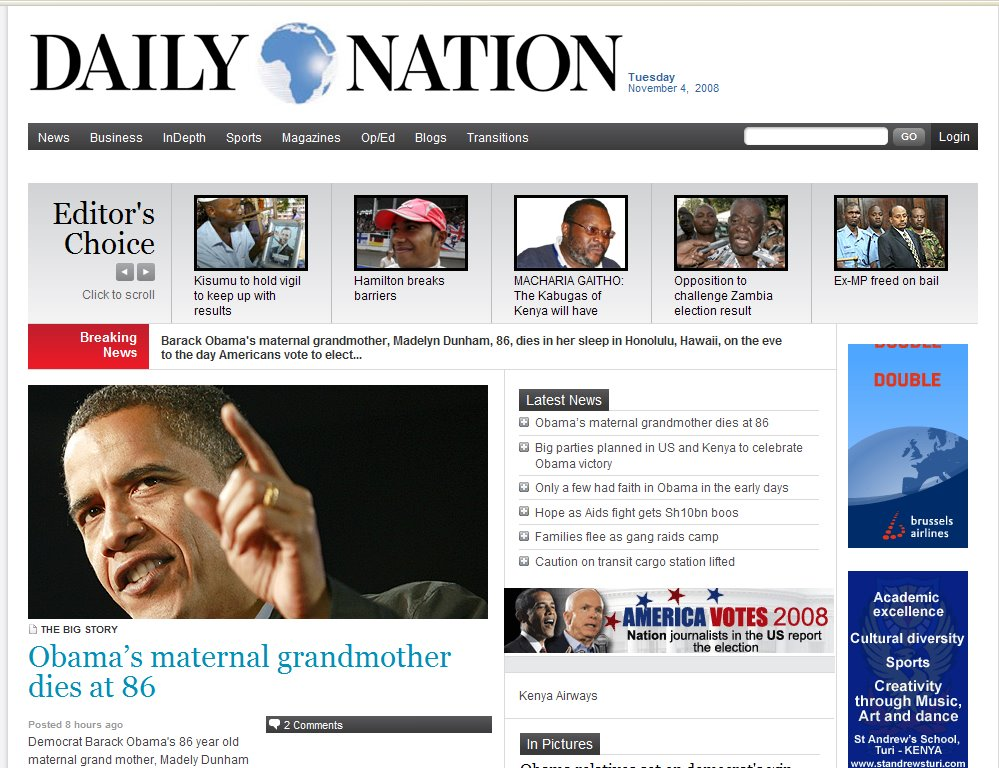 headlines daily nation Look at most relevant kenya daily nation headlines websites out of 164 million at keyoptimizecom kenya daily nation headlines found at standardmediacoke, the.