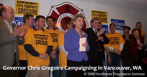 Governor Gregoire Campaigning in Vancouver, WA