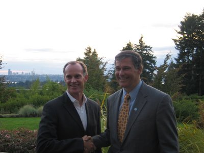 Jay Inslee and Rodney Tom