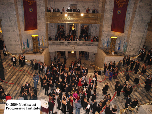 View of the rotunda at the Inaugural Ball