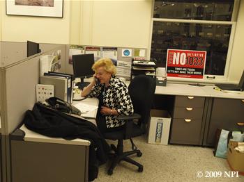 Jean Godden phonebanking