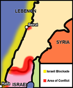 Israel Lebanon Conflict Map
