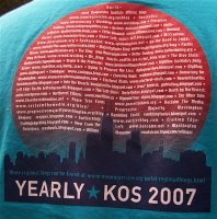 YearlyKos 2007 Convention T-Shirt Back