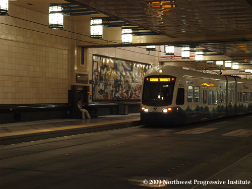 Link Train in Downtown Transit Tunnel