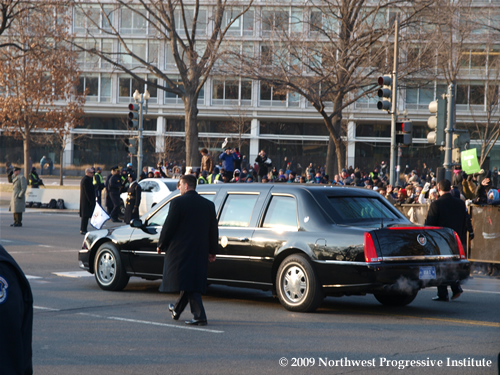 Biden limo in the Inaugural Parade