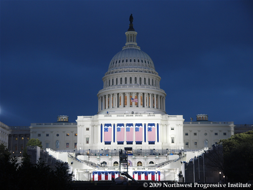 United States Capitol on Inauguration Eve