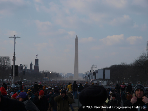Crowds pack National Mall