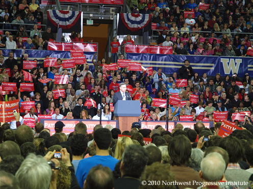 Dow Constantine speaks at Murray/Obama rally