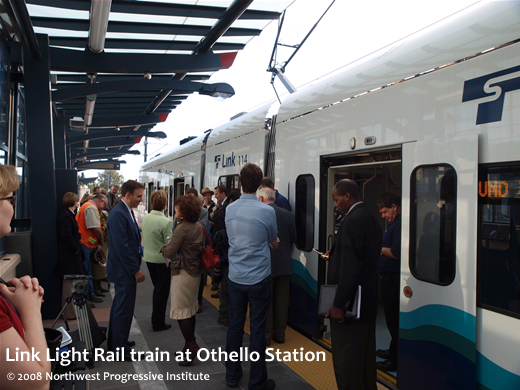 Link Light Rail train at Othello Station