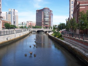 A canal in downtown Providence