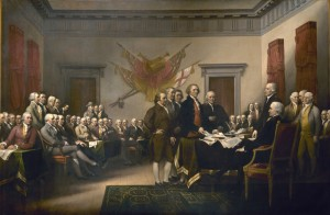 The Declaration of Independence, by John Trumbull