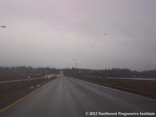 SR 520 Floating Bridge at Midafternoon on Tuesday, January 3rd
