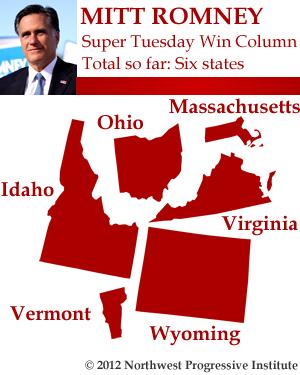 Mitt Romney Super Tuesday Win Column