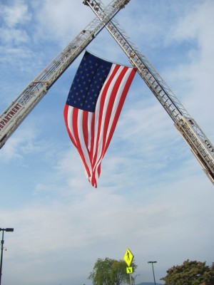September 11th memorial service in Hickory, North Carolina