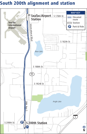 Proposed Angle Lake Link alignment