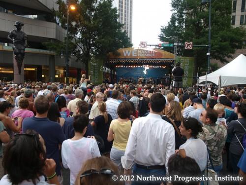 The main stage at CarolinaFest