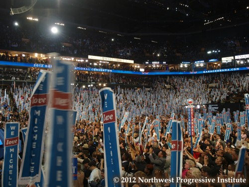 Democrats welcome Michelle Obama to Time Warner Cable Arena