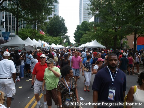 Conventiongoers and guests explore CarolinaFest