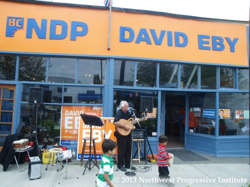 David Eby's campaign office
