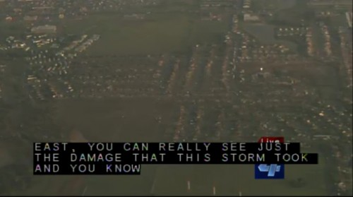 Devastation as seen from the air