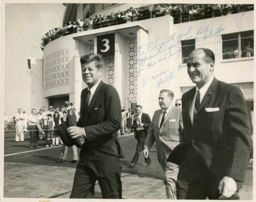 President John F. Kennedy with Warren Magnuson and Al Rosellini