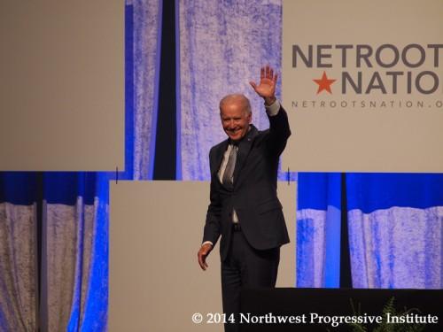 Joe Biden waves