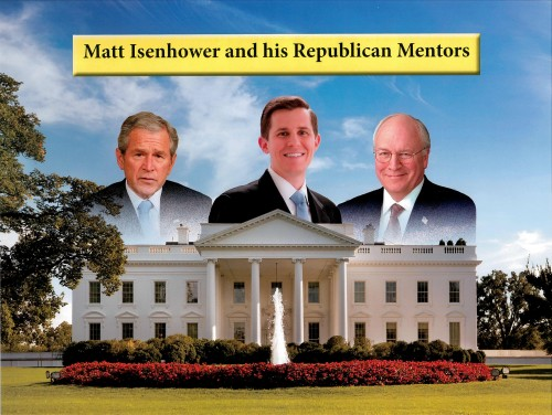 Front of the second Republican Party attack mailer against Matt Isenhower