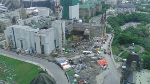 West Block, under construction