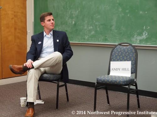 Matt Isenhower next to Andy Hill's empty chair