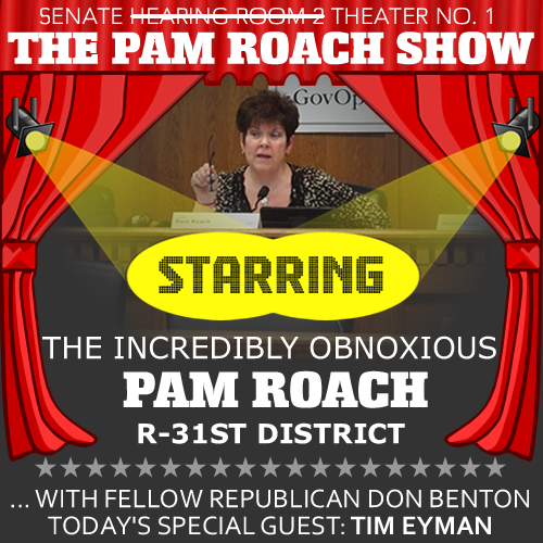 It's the Pam Roach Show, with the Incredibly Obnoxious Pam Roach!