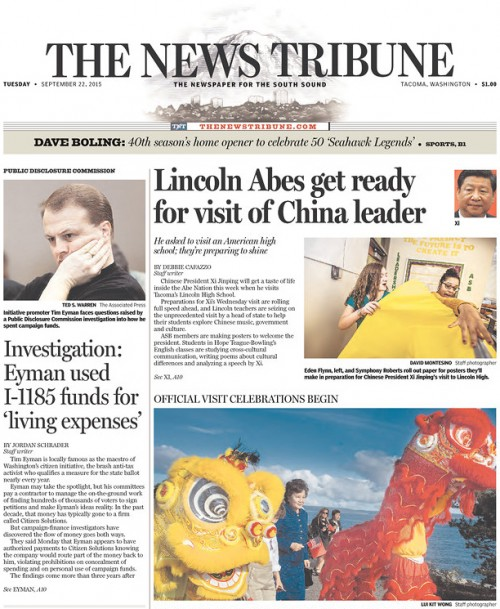 """The News Tribune: Eyman used I-1185 funds for """"living expenses"""""""