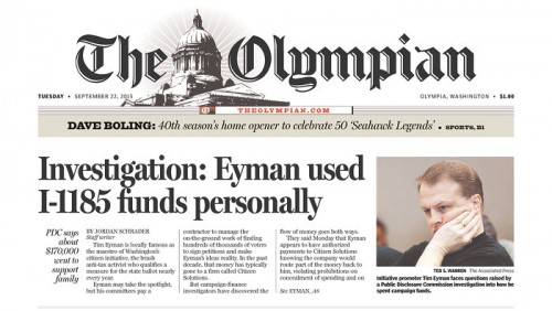 The Olympian: Eyman used I-1185 funds personally