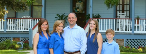 John Bel Edwards and family