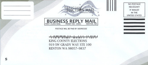 Return envelope for King County signature update form