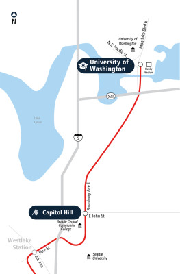 University Link route map