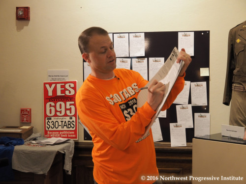 Tim Eyman signs I-1421