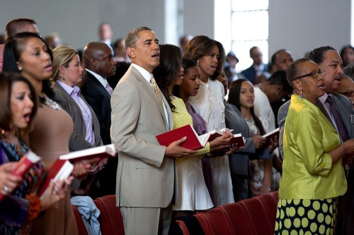 The First Family at Easter services