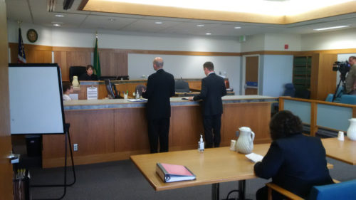 Judge Fair hears arguments in State of Washington v. Tim Eyman et al