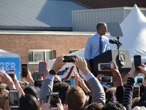 President Obama speaks in Ann Arbor