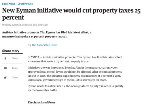 Promotional blurb for Tim Eyman