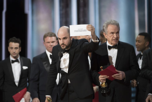 Jordan Horowitz corrects the record at the 89th Academy Awards