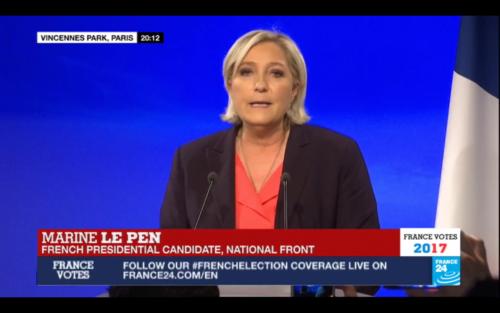 Marine Le Pen concedes defeat