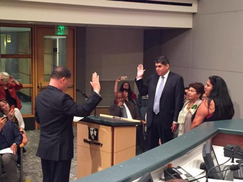 Javier Valdez sworn in