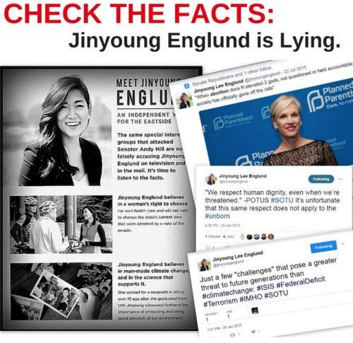 Jinyoung Englund is lying