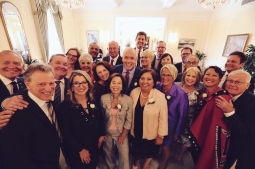 Premier John Horgan and the B.C. Executive Council
